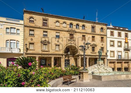 UBEDA,SPAIN - OCTOBER 2,2017 - At the place of Andalusia in Ubeda. Ubeda possesses 48 monuments and more of another hundred of buildings of interest almost all of them of Renaissance style.