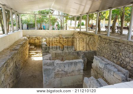 Excavation Of The Foundation Of The Mint In Chersonesus Tavrichesky