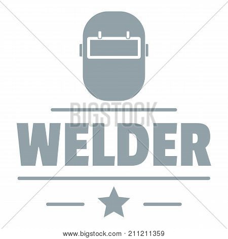 Welder mask logo. Simple illustration of welder mask vector logo for web