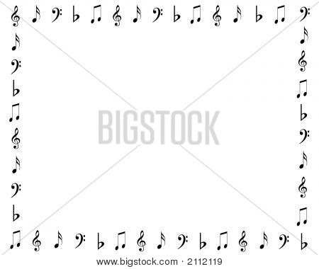 Music Notes Border Scrapbooking Page