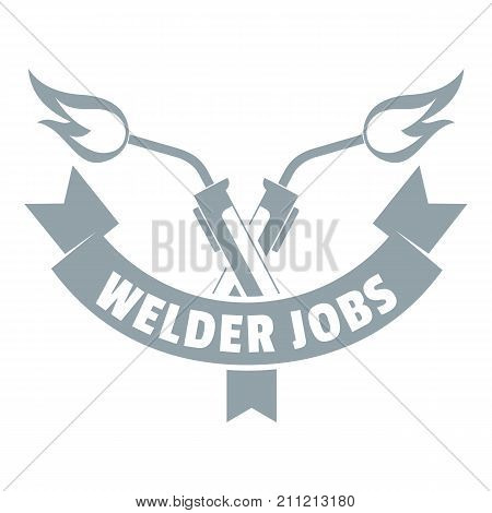 Welder job logo. Simple illustration of welder job vector logo for web
