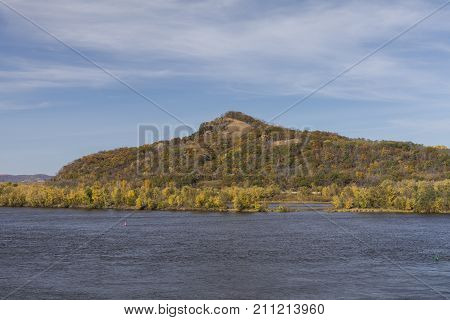 Mississippi River In Autumn - A river landscape.