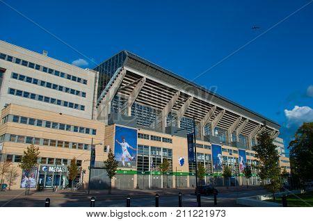 Outside Parken Football Stadium In Denmark