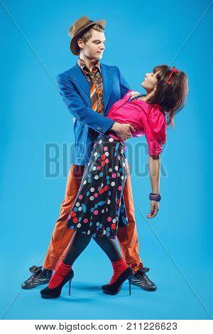 Retro Couple Dancing