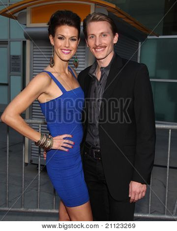 LOS ANGELES - MAY 11:  James Hebert & Abigail arrives to the