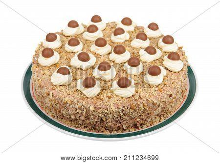 Cake isolated on white background . .