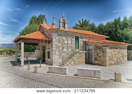 Chapel Senhora das Neves in Barros close to Ponte de Lima, Camino de Santiago, Portugal