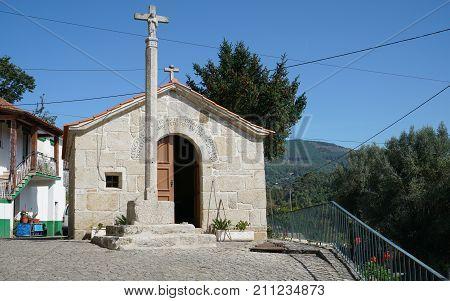 Capela de Nossa Senhora das Neves in Codecal, a village between Ponte de Lima and Rubiaes, Camino de Santiago, Portugal