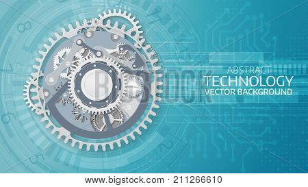 Vector Abstract  Futuristic Technology Background