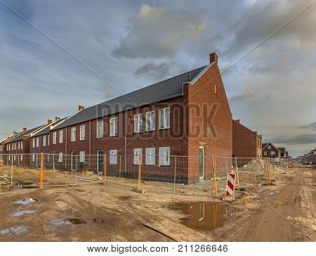 Brand New Houses On A Building Site