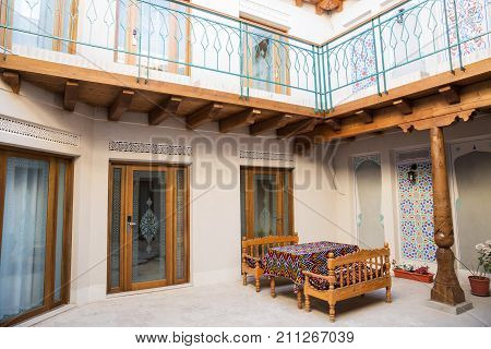 Interior Of The Hotel In Bukhara
