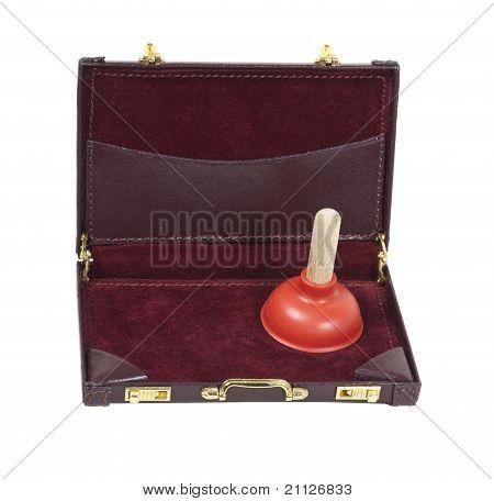 Plunger In A Briefcase