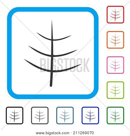 Bare Tree icon. Flat grey pictogram symbol in a blue rounded square. Black, gray, green, blue, red, orange color variants of Bare Tree vector. Designed for web and app UI.
