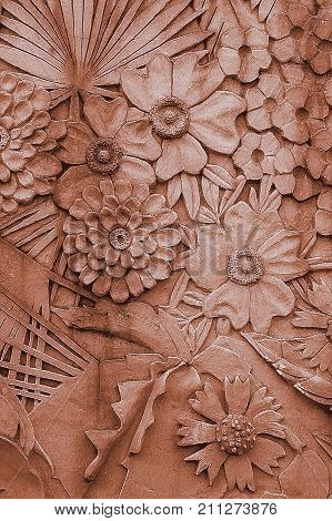 Wall sculpture decoration, Fair Park, Dallas, Texas.  Fair Park became a part of the nation's consciousness in 1936, when state leaders chose it to host a world's fair commemorating the 100th anniversary of the Texas Republic.