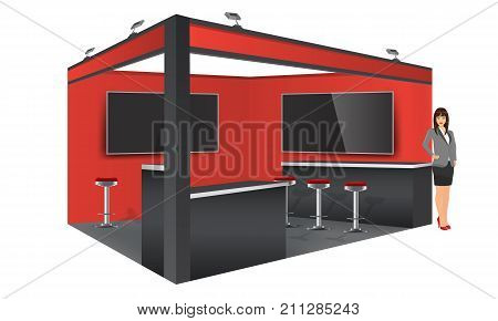 Exhibition Stand Mockup Free : Exhibition stand portfolio exhibition stand mockup free psd