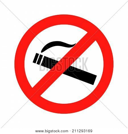 Dont smoke prohibition sign Illustration design on white background