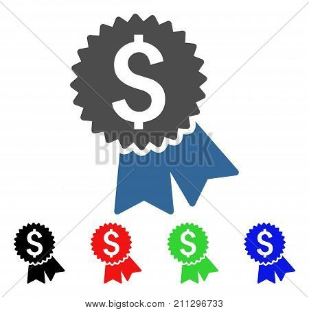 Featured Price Tag icon. Vector illustration style is a flat iconic featured price tag symbol with black, red, green, blue color variants. Designed for web and software interfaces.
