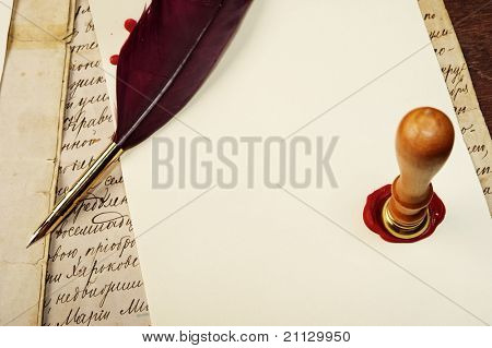Old letter concept