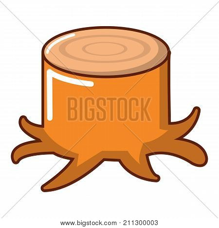 Stump icon. Cartoon illustration of stump vector icon for web