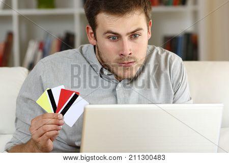 Stressed Compulsive Gambler Gambling On Line
