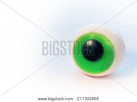 Big Silicone eye isolated on white background