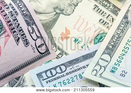 US Dollar currency Banknotes of America money and finance