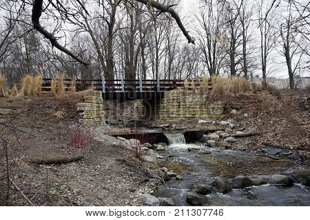 A bridge, along the Little Traverse Wheelway, which connects Charlevoix,