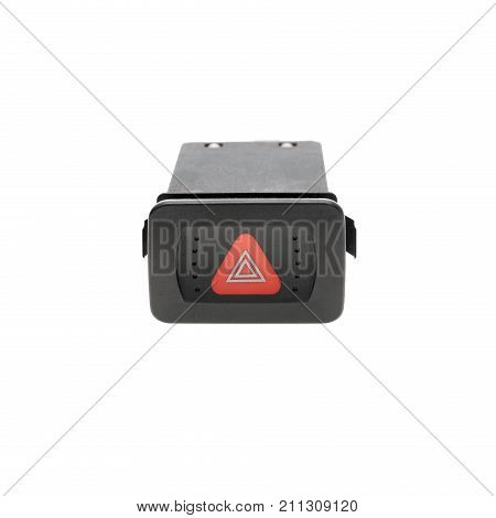 Danger button isolated on a white background