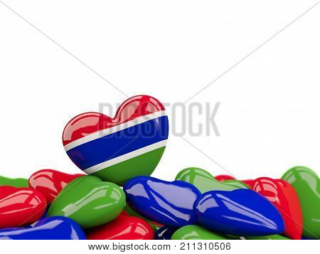 Heart With Flag Of Gambia