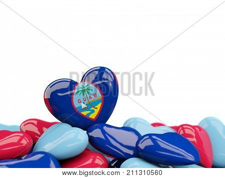 Heart With Flag Of Guam