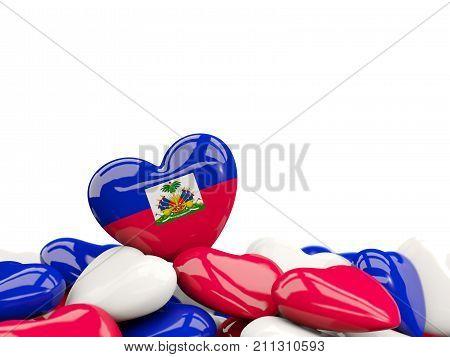 Heart With Flag Of Haiti