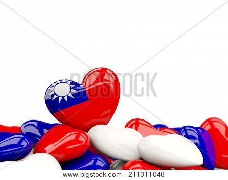 Heart With Flag Of Taiwan