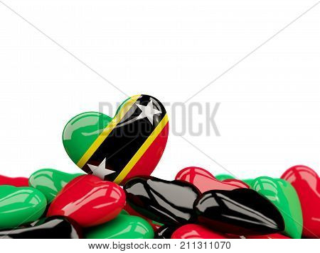 Heart With Flag Of Saint Kitts And Nevis
