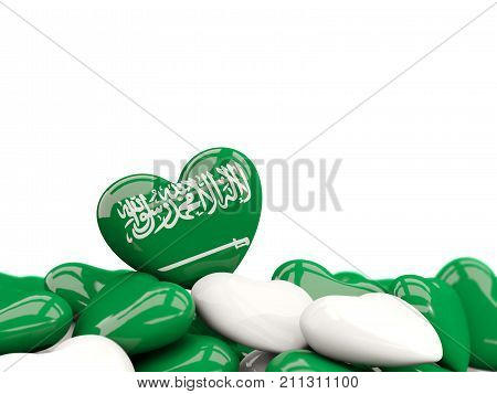 Heart With Flag Of Saudi Arabia