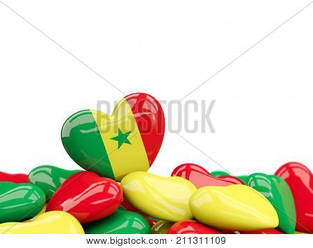 Heart With Flag Of Senegal