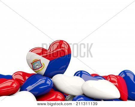 Heart With Flag Of Sint Maarten