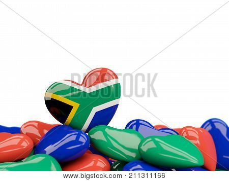 Heart With Flag Of South Africa