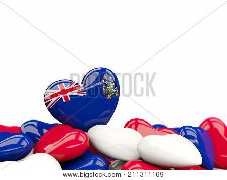 Heart With Flag Of South Georgia And The South Sandwich Islands