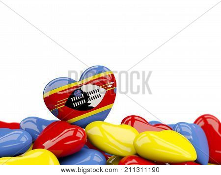 Heart With Flag Of Swaziland