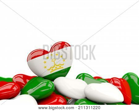 Heart With Flag Of Tajikistan