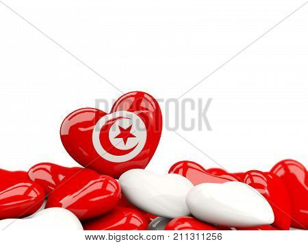 Heart With Flag Of Tunisia