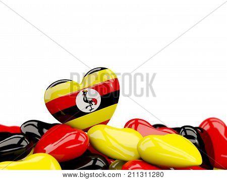 Heart With Flag Of Uganda