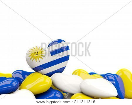 Heart With Flag Of Uruguay
