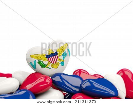 Heart With Flag Of Virgin Islands Us