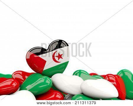 Heart With Flag Of Western Sahara