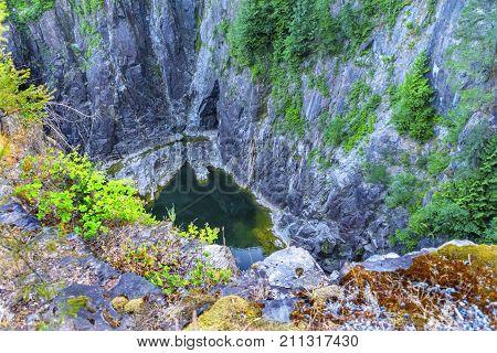 Capilano River Chasm Cliffs Vancouver British Columbia Canada Pacific Northwest