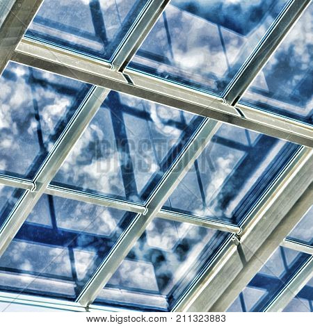 Glass Ceiling With Window.