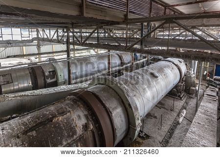 Industrial Building Interior With Sodium Carbonate Centrifuges
