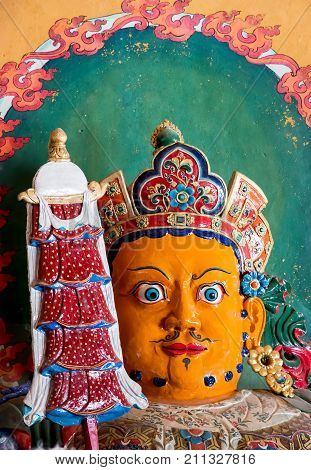 Buddhist staues artwork in Palcho Monaster - Gyantse, Tibet - Tibet
