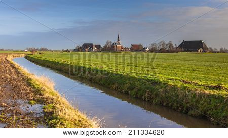Village On Countryside Netherlands